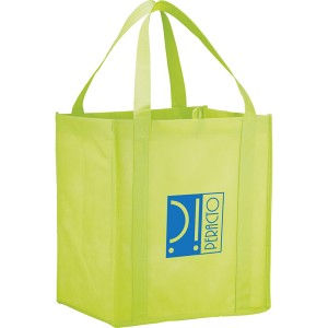 The Hercules Large Grocery Tote - Lime Green