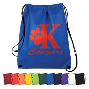 Colorful Non-Woven Drawstring Backpack Promotional Custom Imprinted With Logo