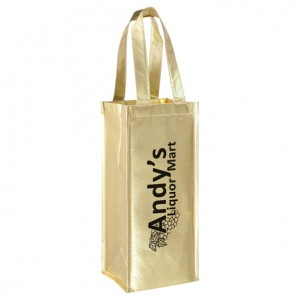 Metallic Vineyard Wine Bag
