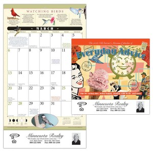 Old Farmer's Almanac Home Hints Calendar - Stapled