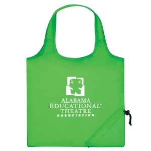 Lime Folding Travel Color Tote Custom Logo