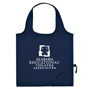 Navy Folding Travel Color Tote Custom Logo
