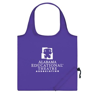 Purple Folding Travel Color Tote Custom Logo