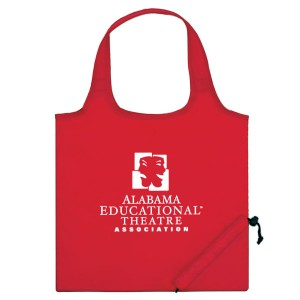 Red Folding Travel Color Tote Custom Logo