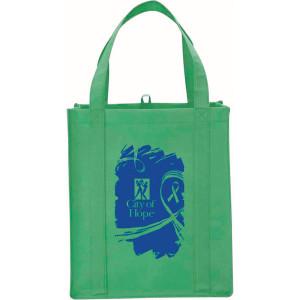 Green Big Polypro Grocery Tote Custom Logo