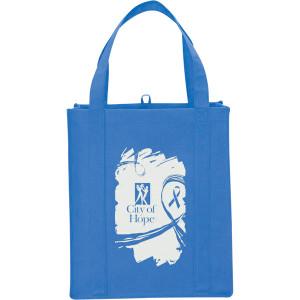 Ocean Blue Big Polypro Grocery Tote Custom Logo
