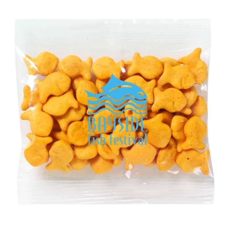 Imprinted goldfish crackers 1 oz 4allpromos for Gold fish snacks