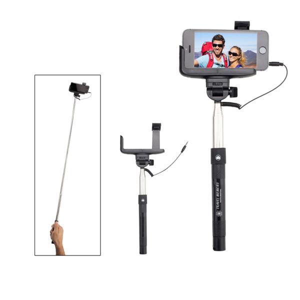 imprinted collapsible selfie remote stick 4allpromos. Black Bedroom Furniture Sets. Home Design Ideas