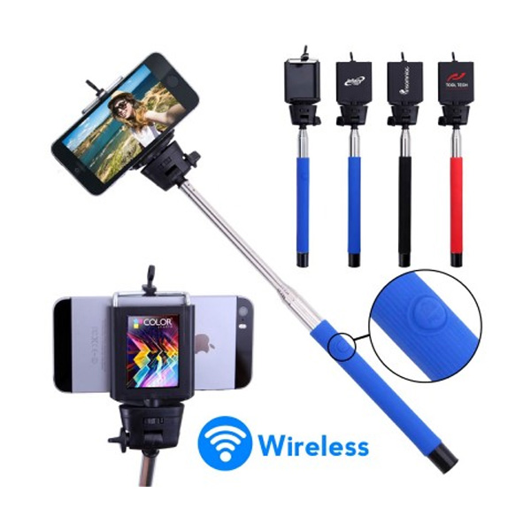 promotional selfie stick with wireless control 4allpromos. Black Bedroom Furniture Sets. Home Design Ideas
