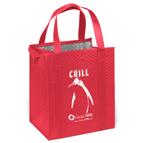 insulated reusable grocery tote bag with logo 4allpromos. Black Bedroom Furniture Sets. Home Design Ideas