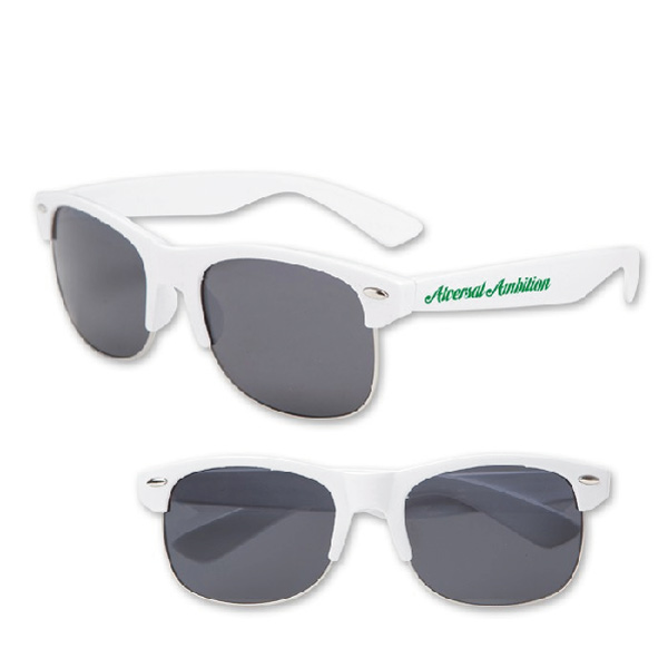 White Half Frame Glasses : Promotional Iconic Half-Frame Sunglasses 4AllPromos