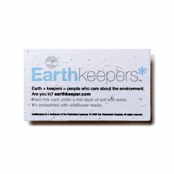 Seed paper business cards custom imprinted 4allpromos for Seed business cards