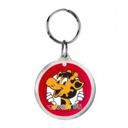 Round Crystal Key Tags Promotional Custom Imprinted With Logo