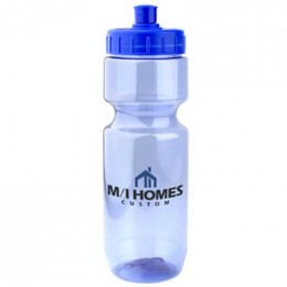 Translucent 22 oz Bike Bottles - push/pull lid Promotional Custom