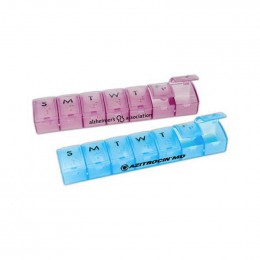 Weekly Pill Dispenser Promotional Custom Imprinted With Logo