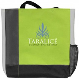 Color Strike Tote Bag Promotional Custom Imprinted With Logo
