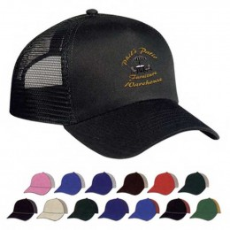 Mesh Back Cap - Embroidered Promotional Custom Imprinted With Logo