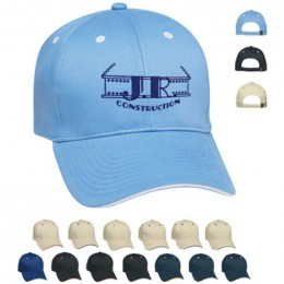 Embroidered Sandwich Cap Promotional Custom Imprinted With Logo