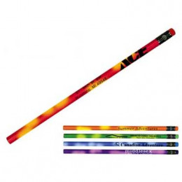 Mood Pencil with colored erasers Promotional Custom Imprinted With Logo