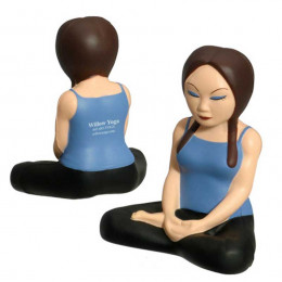 Yoga Girl Stress Ball Promotional Custom Imprinted With Logo