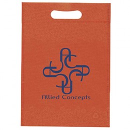 "Non-Woven Die Cut Bag 10""W x 14""H Promotional Custom Imprinted With Logo"
