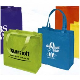 Custom Printed Non-Woven Tote Bag - 13W x 13H x 5D Custom Imprinted With Logo