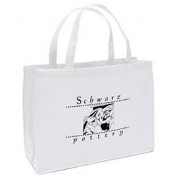 Custom Printed Non-Woven Tote Bag - 16W x12H x 6D Custom Imprinted With Logo