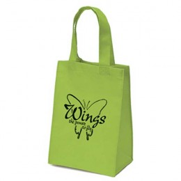 Mighty Small Tote Bag - 8W x 10H x 4D Promotional Custom Imprinted With Logo