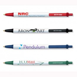 BIC Clic Stic Ecolutions Pen made with Recycled Plastic Custom Imprinted Logo
