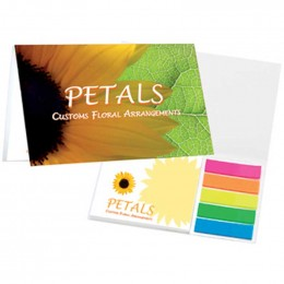 Mylar Flag Booklets with Notepad & Flags Promotional Custom Imprinted With Logo