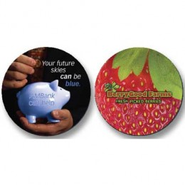 "3-1/2"" Round Fabric Surface Mouse Pads - 1/4 thick Promotional Custom Imprinted With Logo"