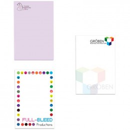 "2""x3"" Sticky Notepads - 100 sheets - 4 Color FREE Custom Imprinted With Logo"