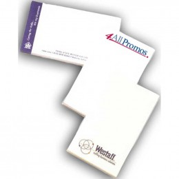"2 1/2""x3"" Sticky Notes - 100 Sheets - 4 Color FREE Custom Imprinted With Logo"