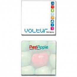 "3""x3"" Sticky Notepads - 100 Sheets - Promotional Custom Imprinted With Logo"
