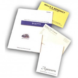 "5""x3"" Sticky Notepads - 100 Sheets - 4 Color Promotional Custom Imprinted Logo"