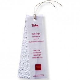 Seed Paper Bookmarks with Vellum Overlay and Tie - Standard Promotional Custom