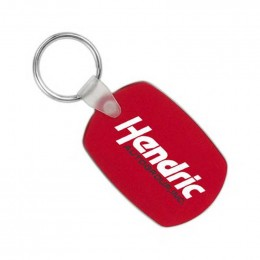 Oval Soft Squeezable Key Tag Promotional Custom Imprinted With Logo