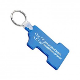 Soft Squeezable Key Tag - Number One Shaped  Custom Imprinted With Logo