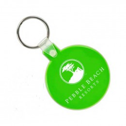 Soft Squeezable Key Tag - Round Promotional Custom Imprinted With Logo