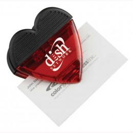 Heart Magnetic Memo Clip Promotional Custom Imprinted With Logo