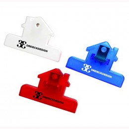 House Shaped Chip Clip Promotional Custom Imprinted With Logo