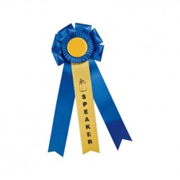Custom Rosette - 818 Promotional Custom Imprinted With Logo