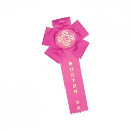 Custom Rosette - 84 Promotional Custom Imprinted With Logo