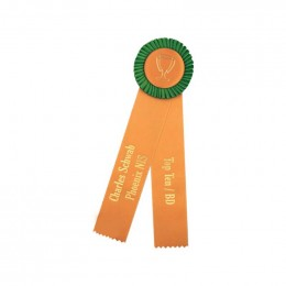 Custom Rosette - 88 Promotional Custom Imprinted With Logo
