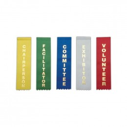 Stock Identification Ribbons Promotional Custom Imprinted With Logo
