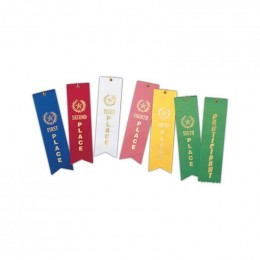 Stock Place Ribbons, Card and String Promotional Custom Imprinted With Logo