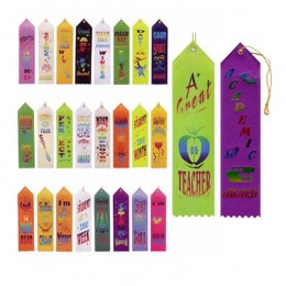 Stock Recognition Ribbons Promotional Custom Imprinted With Logo