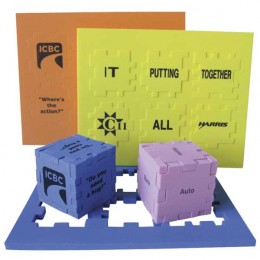 Puzzle Cube - 1 1/2 in. Promotional Custom Imprinted With Logo