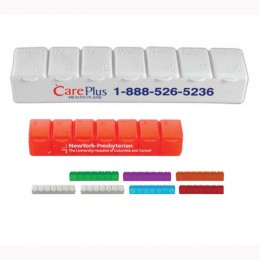 Seven Day Pill Case Promotional Custom Imprinted With Logo