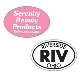 Oval Bumper Sticker Magnet